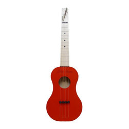 Zither Heaven - Zither Heaven Red Ukulele - UKR15-R - Shop for Toy Instruments from Hayneedle.com! A folk music stand-by the Zither Heaven Red Ukulele is fun and easy to play. Made in the United States with solid maple hardwood this ukulele features a 15-inch vibrating string length. The precise action and placement of the bridge allows chords to be played at the bottom and top of the neck without losing sound quality. Nylon frets and strings produce great sound and Zither pins are used for tuning. A song booklet is also included to get your child started. About Zither HeavenZither Heaven is dedicated to producing high quality musical instruments in the United States using sustainable native North American hardwoods along with other components that are made in the USA. Their commitment to quality and precision produces great-sounding musical instruments for both children and adults. Since Zither is involved in the production of their products at every stage and by producing locally they are able to guarantee satisfaction with their products.