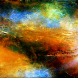 """Science Inspired Fine Art """"ABOVE THE CLOUDS"""" Painting by Holly Anderson -"""