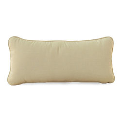 """Frontgate - Somerset Outdoor Bolster Pillow, Patio Furniture - Built with heavy-gauge, non-corrosive aluminum frames. Scroll backs and latticework seats are crafted from a superior grade of hand poured cast aluminum. Durable Ancient Earth powdercoat finish is detailed with hand-applied antique accents. Cushions are covered in exclusive Sunbrella&reg fabrics, the finest solution-dyed, all-weather material available. Sofa and Loveseat are both accompanied by two 14"""" sq. Somerset Throw Pillows. With scrolling and latticework details that recall garden furniture from the English countryside, the Somerset Collection by Summer Classics&reg adds romantic poise to any outdoor living space. Intricate details such as open framework seats and gently curved seat backs are crafted from solid cast aluminum. Generously proportioned frames accommodate plush outdoor cushions available in a variety of Sunbrella&reg upholstery fabrics.  . . . . . Chairs and chaise lounges stack for effortless storage. Dining tables are equipped with 2"""" umbrella holes; assembly required. Note: Due to the custom-made nature of the cushions, any fabric changes or cancellations made to the Somerset Collection must be made within 24 hours of ordering."""