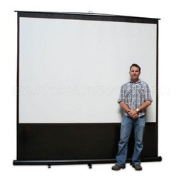 "Elitescreens - 120"" 4:3 Diagonal Floor Screen - 120"" diagonal 4:3 formatted Portable screen with front projection only Max White screen material with 1.1 gain. Model has telescoping back and black colored housing. Viewing size of this model is 72"" x 96"" (=viewing height x viewing width)."