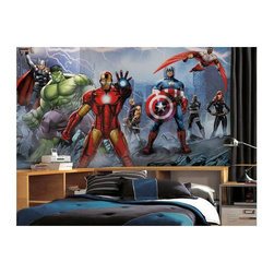 RoomMates - RoomMates Avengers Assemble Mural Multicolor - JL1292M - Shop for Murals from Hayneedle.com! The RoomMates Avengers Assemble Mural will have your feeling like a member of the Avengers. Perfect for fans of the comics and movies this full color mural features members of the Avengers: The Hulk Iron Man Captain America and Black Widow all ready to fight any villains in their way. Installation is a snap simply soak each pre-pasted panel in warm water then smooth it onto the wall. Once all the panels are in place step back and enjoy!About Roommates:Roommates a subsidiary of York Wallcoverings Inc. creates some of the most versatile and unique wall decor you'll find. Their innovative wall decals feature a removable and endlessly reusable design allowing you to move and rearrange your decals as often as you like all without causing any damage to your walls or furnishings. This means you can apply them without worry or headache since you don't have to get the application perfect the first time. RoomMates work on any smooth surface and are particularly ideal for temporary decorating such as around the holidays. All RoomMates products are proudly made in the USA and are made from non-toxic materials so they're as safe for your kids and pets as they are for your walls.