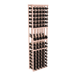 Wine Racks America - 5 Column Display Row Wine Cellar Kit in Redwood, White Wash + Satin Finish - Make your best vintage the focal point of your wine cellar. Four of your best bottles are presented at 30° angles on a high-reveal display. Our wine cellar kits are constructed to industry-leading standards. Youll be satisfied with the quality. We guarantee it.