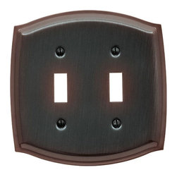 Baldwin Hardware - Colonial 2 Toggle Wall Plate in Venetian Bronze (4766.112.CD) - Feel the difference as Baldwin hardware is solid throughout, with a 60 year legacy of superior style and quality. Baldwin is the choice for an elegant and secure presence. As remarkably expressive as they are functional, these brass wall plates by Baldwin
