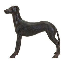 Benzara - Majestic Dog decor In Polystone Cast - A majestic animal that makes a beautiful piece to place on any shelf or table top. This majestic looking dog is cast in polystone as he is depicted trotting across his wide open spaces. Place him perfectly on the bookshelf or on the fireplace mantle. But he's also useful as a paperweight in the home office or as book ends on the end table.