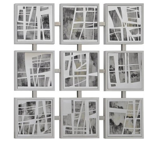 """Ren Wil - Ren Wil W6130 Mixed Emotions 40"""" Abstract Wall Art Painting - Features:"""