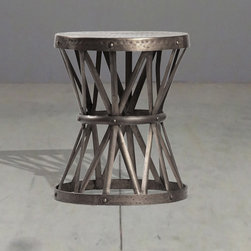 hand hammered side table - view this item on our website for more information + purchasing availability: http://redinfred.com/shop/category/furnish/tables-desks/occasional-tables/hand-hammered-side-table/