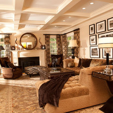 Contemporary Living Room by Kellie Burke Interiors