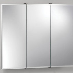 Broan-NuTone - Broan-Nutone Ashland Tri-View 30W x 26H in. Surface Mount Medicine Cabinet 75528 - Shop for Bathroom Cabinets from Hayneedle.com! If you're searching on our site we're pretty sure you need this product. It is after all a medicine cabinet. But not just any medicine cabinet. We think it's a pretty good one. The Broan-Nutone Ashland Tri-View Surface Mount Medicine Cabinet - 30W x 26H in. has a bright white finish and durable construction with quality laminate. This means it'll work well in the bathroom where you'll likely put it. The mirrors exquisite particularly when you look into them feature a .5-inch bevel around the edges. Includes all necessary hardware for installation.About Broan-NuToneBroan-NuTone has been leading the industry since 1932 in producing innovative ventilation products and built-in convenience products all backed by superior customer service. Today they're headquartered in Hartford Wisconsin employing more than 3200 people in eight countries. They've become North America's largest producer of medicine cabinets ironing centers door chimes and they're the industry leader for range hoods bath and ventilation fans and heater/fan/light combination units. They are proud that more than 80 percent of their products sold in the United States are designed and manufactured in the U.S. with U.S. and imported parts. Broan-NuTone is dedicated to providing revolutionary products to improve the indoor environment of your home in ways that also help preserve the outdoor environment.