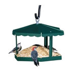 Homestead - Fly-Through Gazebo Feeder - Fly-through gazebo bird feeder. A gathering place for the birds. Feature Packed! Non-intimidating. Birds prefer the open fly-thru design because they feel unrestricted and more secure.