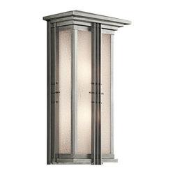 Kichler Lighting - Kichler Lighting 49160SS Portman Square Stainless Steel Outdoor Sconce - Kichler Lighting 49160SS Portman Square Stainless Steel Outdoor Sconce