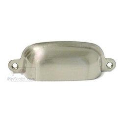 RK International Hardware Satin Nickel - Flat Box Cup Pull -