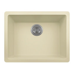 Polaris Sinks - Polaris Sinks p808 Single Bowl AstraGranite Undermount Kitchen Sink - P808BE - Shop for Kitchen from Hayneedle.com! Modern style practical features and handsome color options make this Polaris Sinks p808 Single Bowl AstraGranite Undermount Kitchen Sink a smart choice for your kitchen. This rectangular sink is made of a granite composite that combines 80% quartzite and 20% acrylic. It also features silver ions in the sink that kill 99% of bacteria on contact. A durable option for your kitchen this sink is extremely scratch-resistant can withstand heat up to 550 degrees and is unaffected by household acids and cleaners. It is also completely stain-resistant! The acrylic acts as a natural sound dampener making the sink very quiet. It is covered by a limited lifetime warranty and includes both a cardboard cutout template and mounting hardware.Product SpecificationsMaterial: Granite compositeNumber of basins: 1Bowl depth (inches): 7.75Shape: rectangularMount: UndermountAbout Polaris SinksPolaris Sinks provides a plethora of sinks for your kitchen and bath. They are proud to offer many styles of stainless steel porcelain quartz copper glass bronze and natural stone sinks. Only the highest quality of materials is used to manufacture their sinks which are covered under a limited lifetime warranty.Polaris stainless steel sinks use high-quality 304-grade cold-rolled steel for rust-proof durability. Equally as popular to the stainless steel line is Polaris line of porcelain bathroom and kitchen sinks. These sinks are made using vitreous china a mixture of clay and other minerals that are triple glazed and triple fired at extremely high temperatures to be stain-resistant and extremely durable. All of the porcelain sinks in this collection are available in white and bisque in an array of shapes and styles.