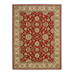 """Nourison - Nourison Persian Crown PC002 1'11"""" x 2'11"""" Red Area Rug 17850 - This breathtaking collection features beautifully bordered medallion prints embellished with graceful arabesques, flowers and flourishes in the traditional Persian style. Rendered in luminous color palettes and fabricated from 100% polypropylene, these resplendent rugs are resilient, simple to care for and sure to impart a timeless, awe-inspiring elegance to any environment."""