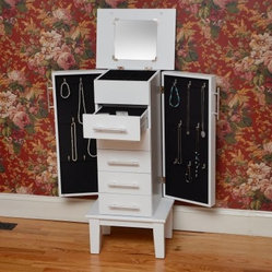 Bay Shore Collection Cape Cod Jewelry Armoire - White