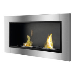IGNIS - Ignis Bio Ethanol Fireplace Lata With Two burners - *Design Patent Pending - 29/469,483