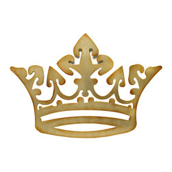 Brandi Renee Designs - Golden Wall Crown - This unique crown can be used as a wall art accessory or can be used as a bed crown with fabric cascading down to create a soft enhancement behind the headboard.