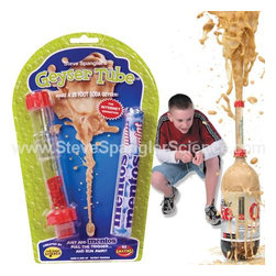 Geyser Tube - You've probably seen the Mentos-in-Diet-Coke geyser experiment on YouTube, but I can tell you that it's much more exciting when you're creating the explosion in your own backyard. Make sure you also have a bottle of diet soda on hand, because your kids will probably want to get right to it!