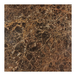 Stone and Co - Dark Emperador 12x12 Polished Marble Floor and Wall Tile - Finish: Polished