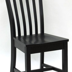 Carolina Cottage - Wood Dining Chair w Contoured Seat - Beautiful 3 step hand finish with rubbed edges for a worn unique look. Made from 100% solid select Asian hardwood. Assembly required. Seat dimensions: 17 in. W x 16.5 in. D x 17.5 in. H. Total: 19 in. W x 16 in. D x 36 in. H (20 lbs.)Our Prairie dining chairs are solid hardwood with wide, contoured seats. Handy anywhere in the home, they offer versatile seating solutions and make handsome accents in the hall, kitchen or dining room.