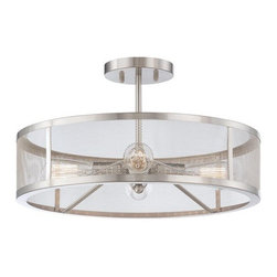 Minka Lavery - Minka Lavery 4134 4 Light Semi-Flush Ceiling Fixture from the Downtown Edison Co - Four Light Semi-Flush Ceiling Fixture from the Downtown Edison CollectionFeatures: