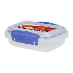 Sistema Klip It 200 ml Food Storage Container - Unique shapes and comprehensive sizes of the cubed range of Klip-It products ensures maximum use of space in the fridge  freezer  and pantry.  Efficient easy opening locking clips plus a rubberized seal ensures that food stays fresher longer.  BPA Free  made in New Zealand from 100% lead free virgin materials.Product Features                                   Capacity - 200ml / 6.7 oz / 0.8 cups          Microwave  dishwasher  & freezer safe          BPA Free - Made from lead free virgin materials          Made in New Zealand