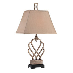 Quoizel Lighting - Quoizel Lighting CKTH1483T Triheart Table Lamp With 1 Light And On Off Switch - For over seventy years, Quoizel lighting has been dedicated to the design and production of its diversified line of fine lighting products and home accessories.