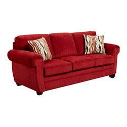 Chelsea Home Furniture - Chelsea Home Leslie Sofa in Samson Red - Leslie sofa in Samson Red belongs to the Chelsea Home Furniture collection