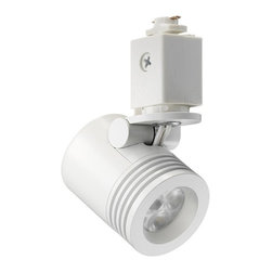 Juno Lighting - Trac 12 TL114LED Mini Cylinder LED Track Light - 6W - The Trac 12 LED Mini-Cylinder Spotlights offer effective accent lighting in a miniature, energy-efficient package.
