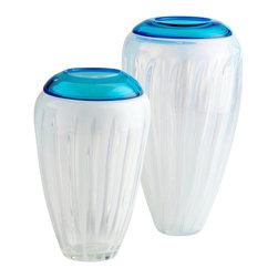 Cyan Design - Cyan Design 04050 Large Swirl Cyan Vase - Cyan Design 04050 Large Swirl Cyan Vase