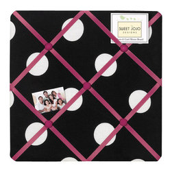 Sweet Jojo Designs - Hot Dot Fabric Memo Board by Sweet Jojo Designs - The Hot Dot Fabric Memo Board by Sweet Jojo Designs, along with the  bedding accessories.