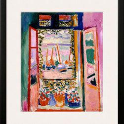 Artcom - Open Window, Collioure, 1905 by Henri Matisse - Open Window, Collioure, 1905 by Henri Matisse is a Framed Art Print set with a SOHO Black wood frame and a Polar White mat.