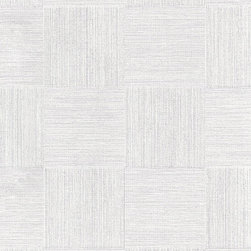 Romosa Wallcoverings - Baby Blue Chequered Embossed Titanic Wallpaper - - Color: Baby Blue