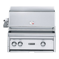 Lynx - Lynx 27-in Built-in Grill w Rotisserie | L27R-2-NG - Lynx 27 in Built In NG Natural Gas Professional Stainless Steel Grill w/ Rotisserie