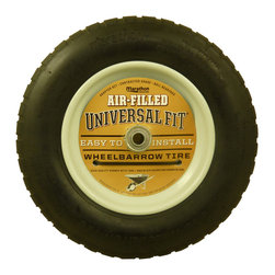 Marathon Industries - Air Filled Wheelbarrow Tire, Universal Fit - Marathon Industries Universal Fit Air Filled Wheelbarrow Tire