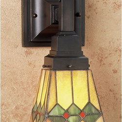 Meyda - 5 Inch W Martini Mission 1 Lt Wall Sconce Wall Sconces - Color Theme: Ha 59 Flame