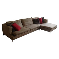 CITE NYC Natural colored Sectional sofa - Materials: Fabric