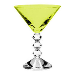 Baccarat - Baccarat Martini Glass Vega Moss Green 5 7/8 H - Baccarat Martini Glass Vega Moss Green 5 7/8 HBaccarat Crystal can trace its history back to 18th century France, where in the village of Baccarat a glassworks facility was established. Since 1794 they have been producing some of the world,s finest crystal, using age old methods. Baccarat crystal glasses have been produced for kings and queens alike. Their delicate detailing and unparalleled quality are sought after by collectors around the world, and now they can be part of your home at affordable prices