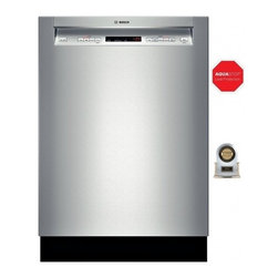 "Bosch - 300 Series SHE53TL5UC 24"" 15 Place Setting Recessed Handle Built In Dishwasher W - This Bosch stainless steel tall tub with polypropylene offers efficient performance convenience and large capacity With 50 dBA this Bosch dishwasher is virtually silent 6 wash cycles and 2 options offer variety that suits all households Saves up to 2..."