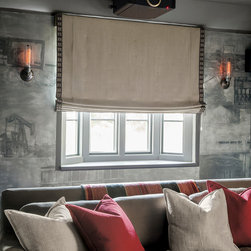 Smith & Noble Flat Roman Cordless Fabric Shades - Create an oasis of calm with our sophisticated Fabric Shades. Hand-sewn domestically by master tailors using color-coordinated thread and precision pattern matching, they create a beautiful silhouette that can be found in only one place, your home. Fabric Shades are shipped in 7 business days.