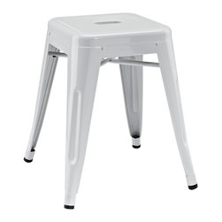 """LexMod - Promenade Stool in Gray - Promenade Stool in Gray - Usher in a new epoch of chair civilization. The Promenade Modern Dining Chair breaks through the norm with playfully designed arms and an exuberant feel. More than a unique seating choice, its an electric-plated metal accent piece that breathes exceptionalism into your room. Promenade is best served with zest and vigor, as you transform eating spaces into gathering spots of festivity. Set Includes: One - Promenade Modern Stool Modern Stool, Electric-Plated Metal, No Assembly Required, Non-Marking Feet Caps Overall Product Dimensions: 16.5""""L x 16.5""""W x 32.5""""H - Mid Century Modern Furniture."""