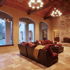 Traditional Living Room by Allan Edwards Builder Inc