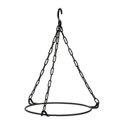 Achla - Hanging Ring For 12 in. Bird Bath Bowl - Easily hang one of the many attractive bird baths offered on this extensive site.  A wonderful addition to any porch or patio.  This wrought iron hanging ring is finished with a black powder coat for ages of stability and durability. * Wrought Iron with a Black Powdercoat11 in. H