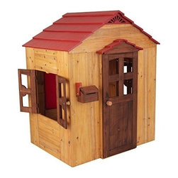 KidKraft - Kidkraft Wooden Outdoor Playhouse - Our Outdoor Playhouse lets kids discover a brand new world without leaving the safety of home. With its detailed structure and high-quality construction, this kid-sized hangout would be a great gift for any of the young explorers in your life.