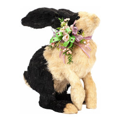 Sisal Rabbit with Spring Silk Floral