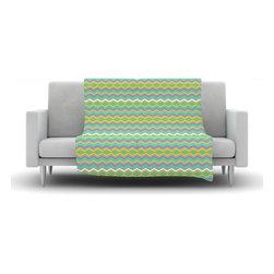 """Kess InHouse - Nicole Ketchum """"Chevron Love"""" Fleece Blanket (90"""" x 90"""") - Now you can be warm AND cool, which isn't possible with a snuggie. This completely custom and one-of-a-kind Kess InHouse Fleece Throw Blanket is the perfect accent to your couch! This fleece will add so much flare draped on your sofa or draped on you. Also this fleece actually loves being washed, as it's machine washable with no image fading."""