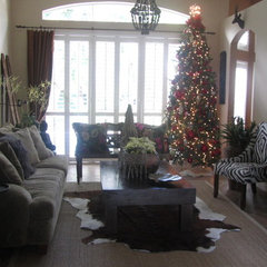 eclectic living room Christmas