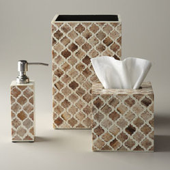 Bojay Ltd Bone Inlay Wastebasket