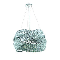 """PWG Lighting / Lighting By Pecaso - Ulysses 16-Light 28"""" Crystal Chandelier 8333D28C-EC - Fun and fantasy best describes our Ulysses Collection. A unique twist of faceted crystals draped together in a knot formation makes a sleek statement of modern inspiration."""