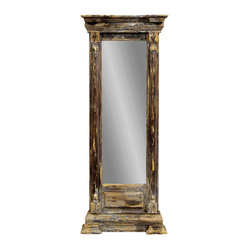 Rustic Aged Rectangle Wall Mirror