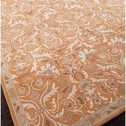 Jaipur Poeme Corsica Oriental 8 ft. Wool Tufted Rug - This is a more traditional take on a fall rug. I love the soft orange color.